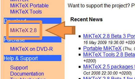 tutoriel d'installation de miktex k800